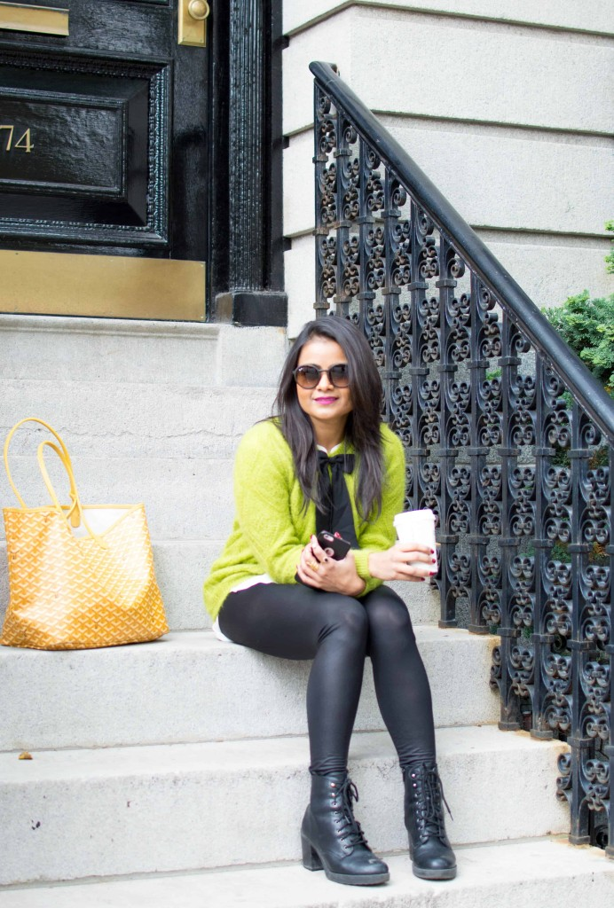 LovePlayingDressup-Shein-Topshop-Goyard-GreenSweater-Bow-OOTD2
