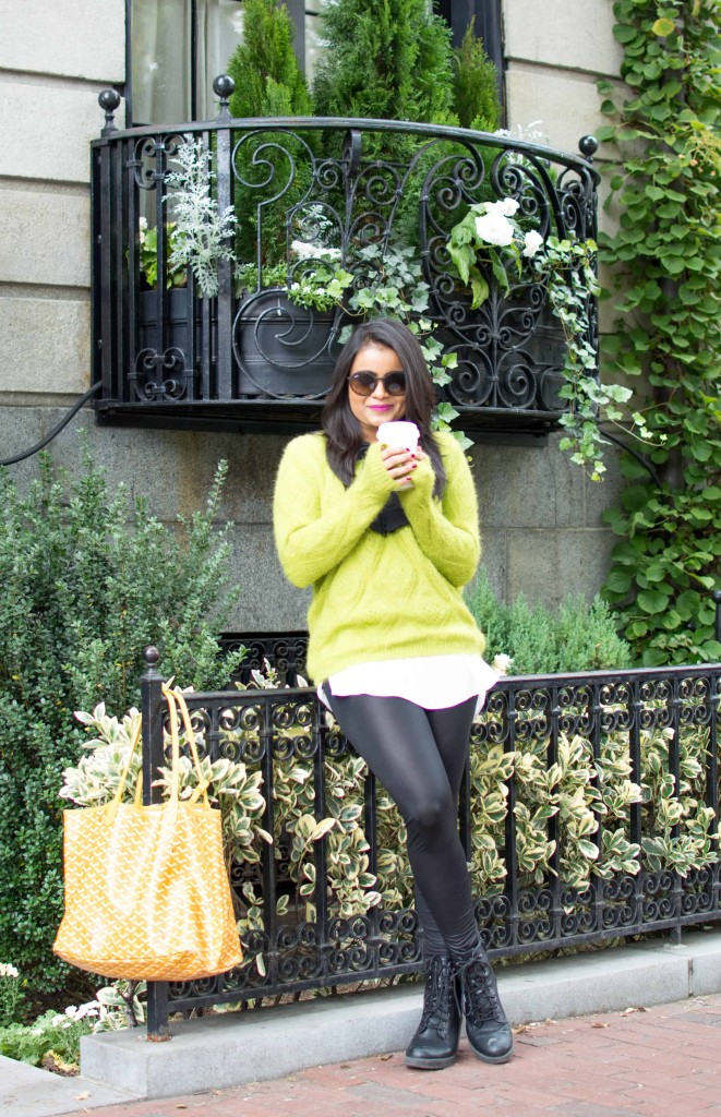 LovePlayingDressup-Shein-Topshop-Goyard-GreenSweater-Bow-OOTD3