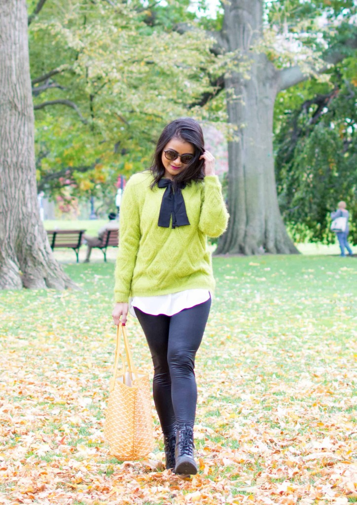 LovePlayingDressup-Shein-Topshop-Goyard-GreenSweater-Bow-OOTD5