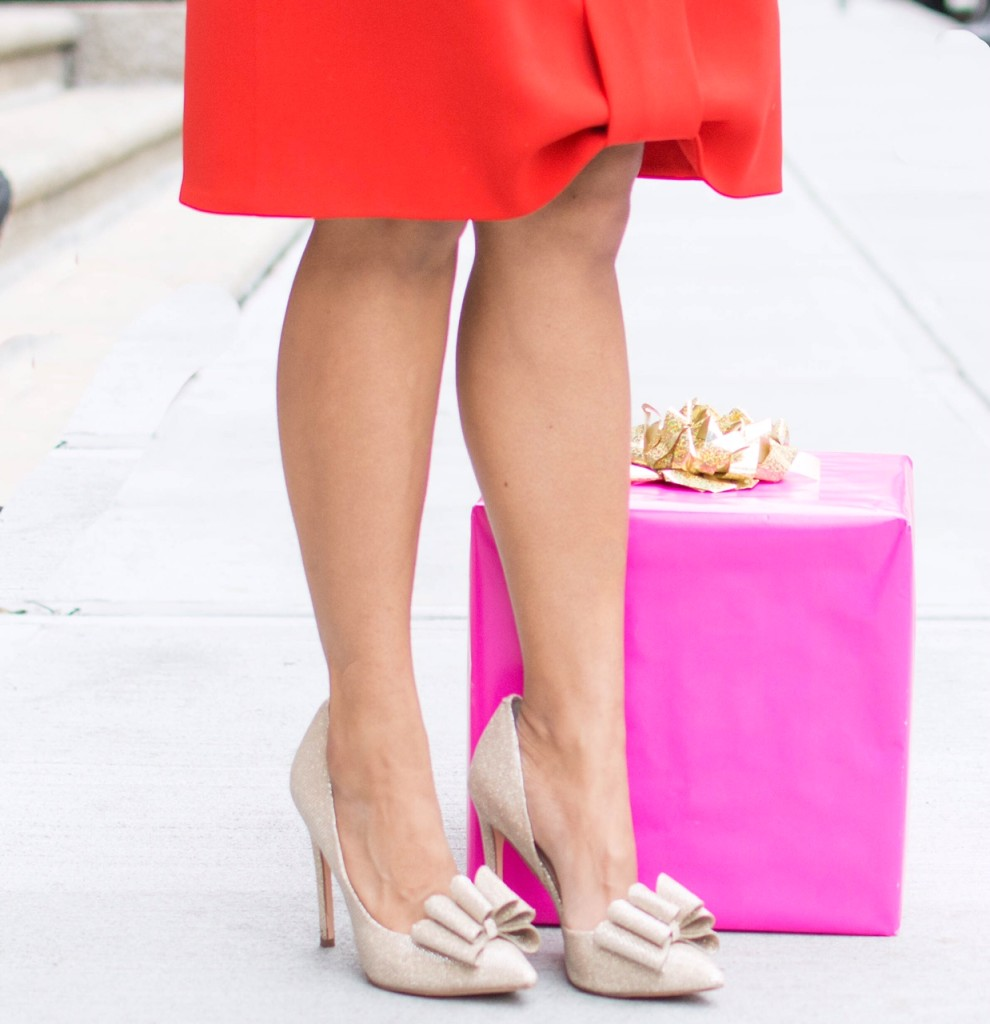 LovePlayingDressup-Bows-Shoes-HolidayInspiration-Red-Pink-Gold-OOTD-BostonBlogger