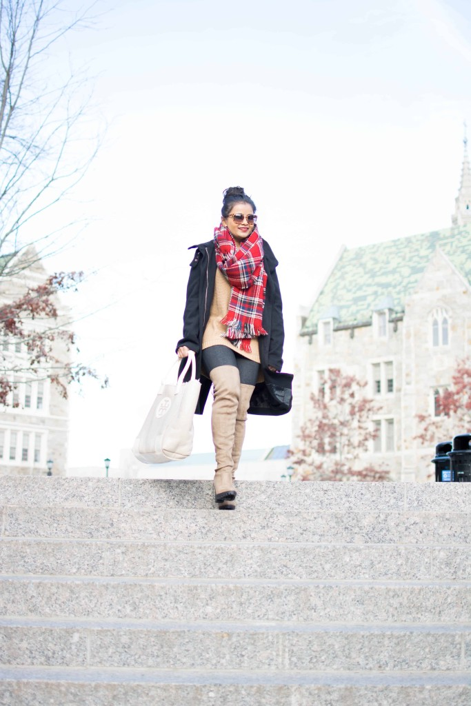 LovePlayingDressup-plaid-scarf-yonisjackets-blanketScarf-Petite-OOTD-1