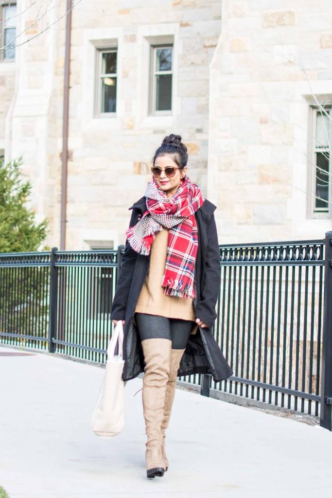 LovePlayingDressup-plaid-scarf-yonisjackets-blanketScarf-Petite-OOTD-3