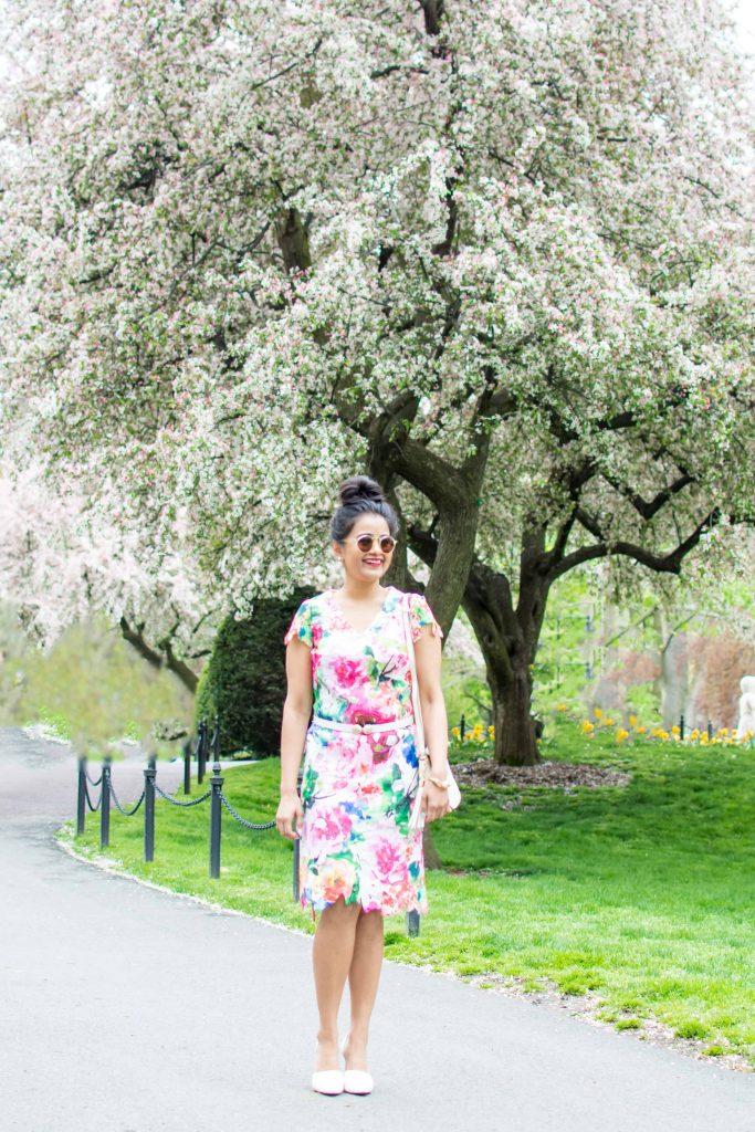 LovePlayingDressup-Neha-Gandhi-FloralDress-Boston-Spring-OOTD-Petite-Tulips-4