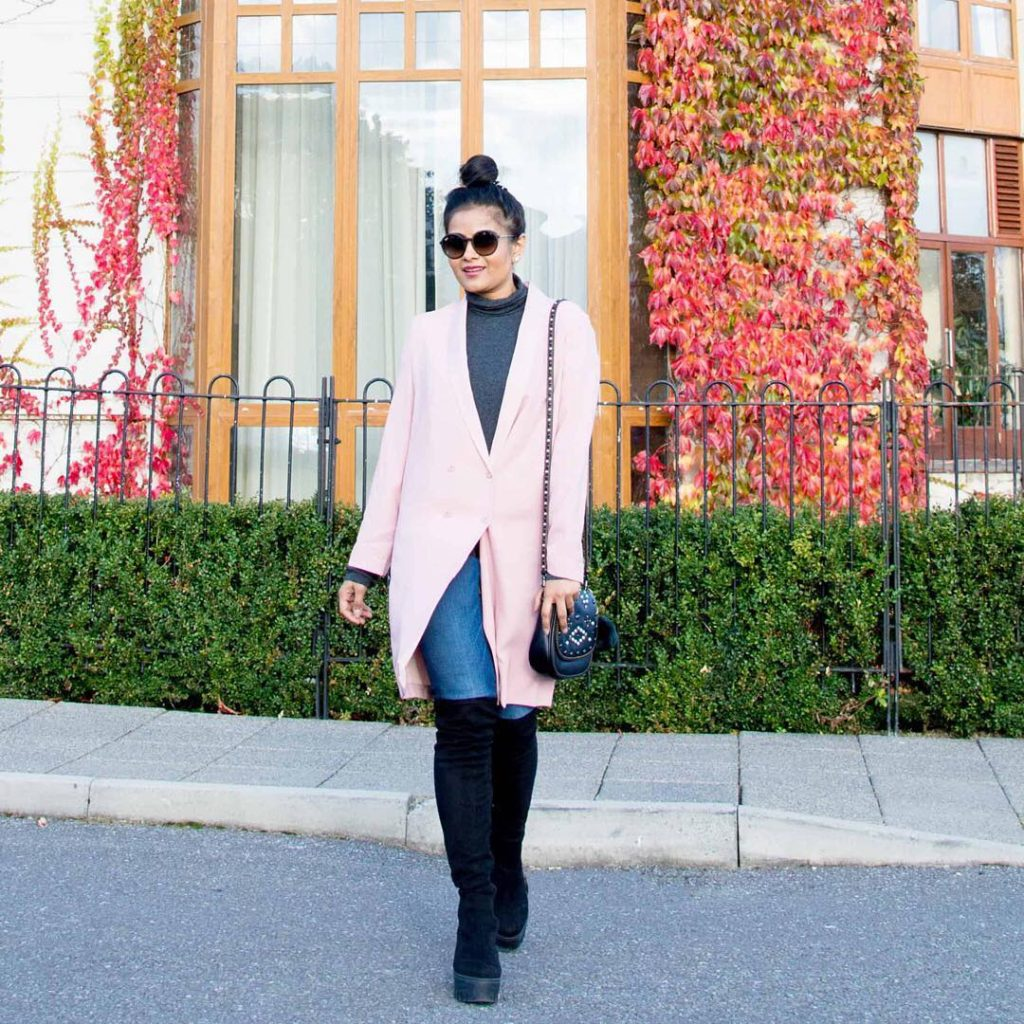 Loving the weather lately - atypical for November but I am not complaining wearing my favorite blazer - such a cute shade of pink & can be easily dressed up / dressed down Happy Thursday http://liketk.it/2pzJF @liketoknow.it #liketkit @nordstrom