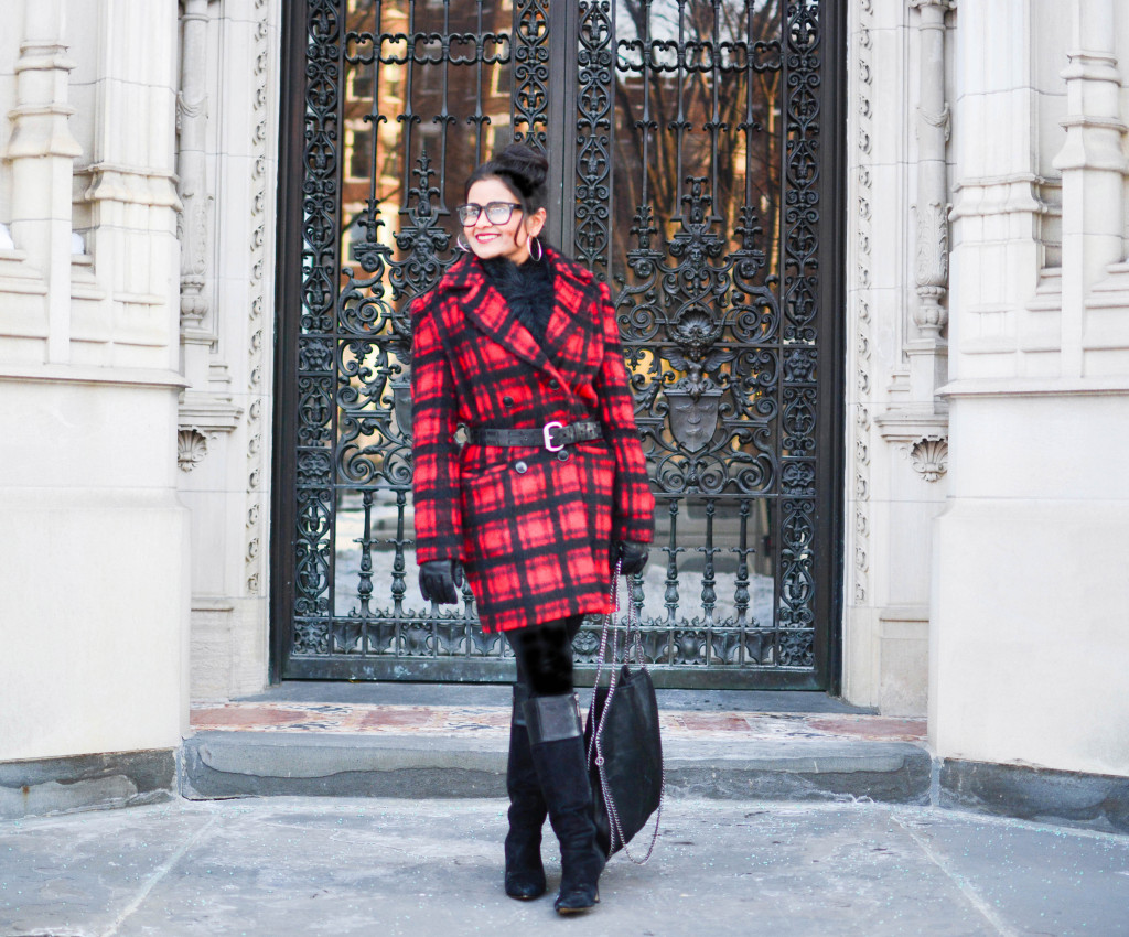 LovePlayingDressup-PlaidJacket-TartanCoat-WinterCoat-FrontRowJacket-BostonBlogger-StellaMccartneyBag-MadewellEyewear-2