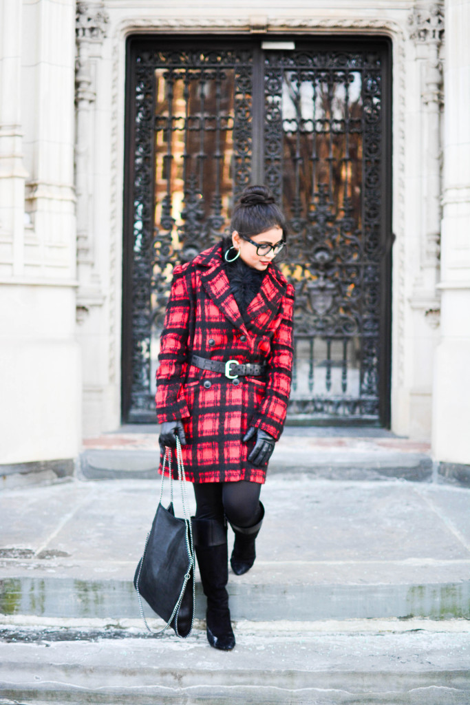 LovePlayingDressup-PlaidJacket-TartanCoat-WinterCoat-FrontRowJacket-BostonBlogger-StellaMccartneyBag-MadewellEyewear-3