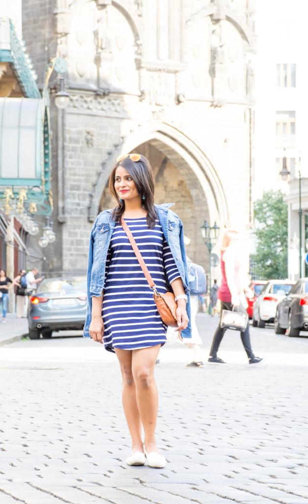 Stripes-dress-jean-jacket-ootd-loveplayingdressup-petite-4