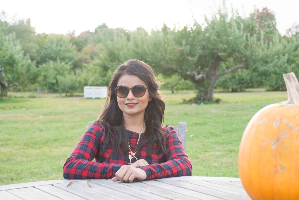 Loveplayingdressup-ootd-neha-gandhi-plaiddress-stellamccartney-otkboots-applepicking6