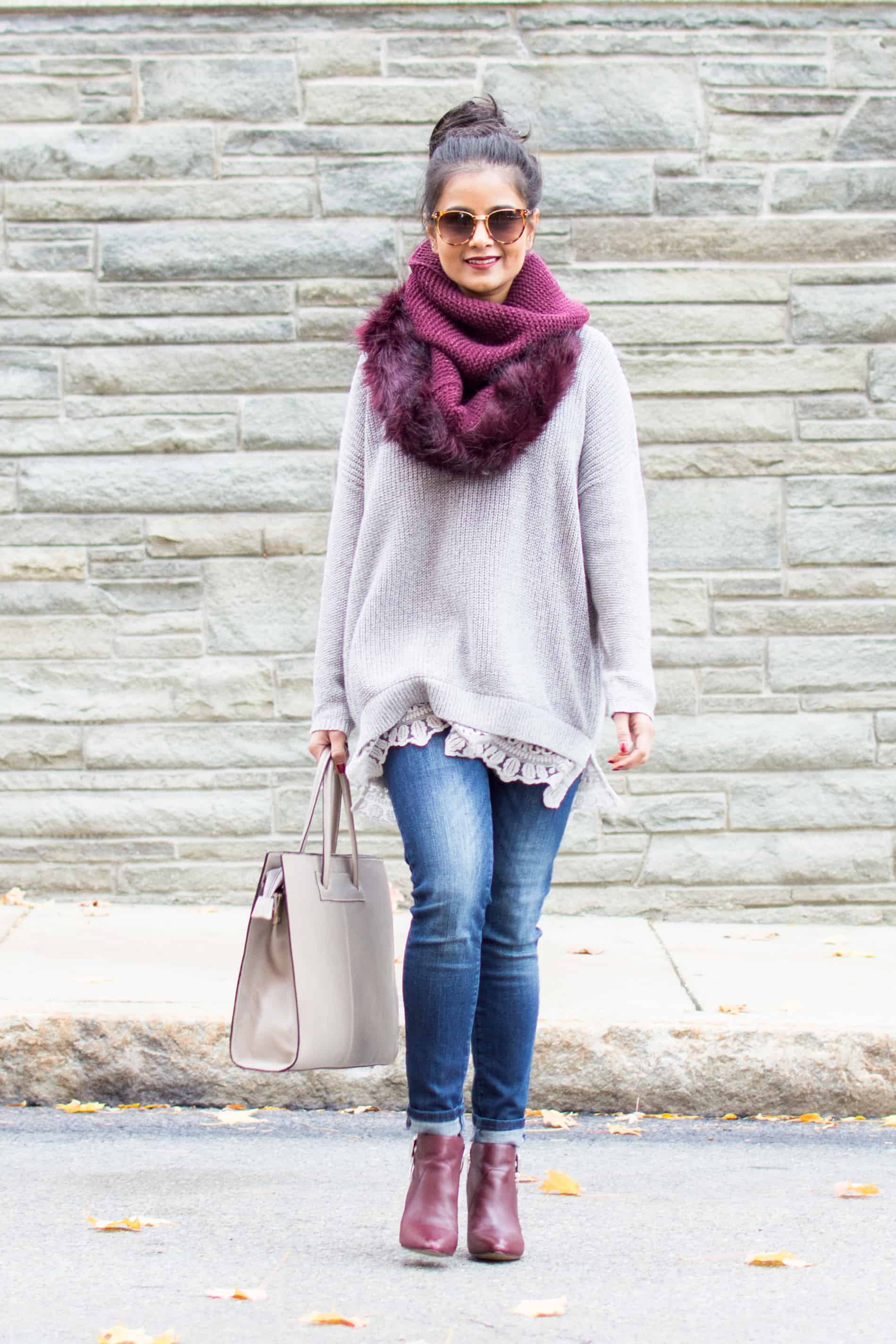 Lace Trim Sweaters Blanket Scarves Love Playing Dressup